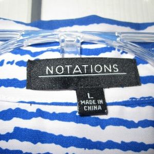 Notations Tops - Notations women's printed blouse